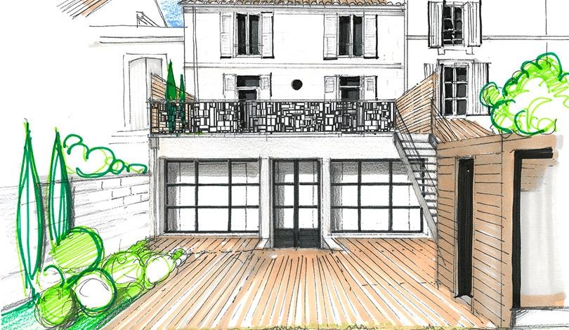 Rénovation de logement à Angoulême - Charente - Plan