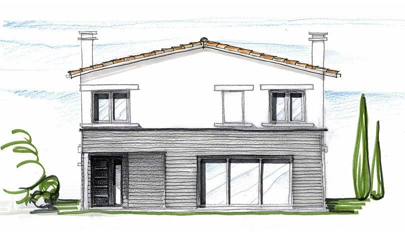Extension d'un logement à Ruelle - Charente - Plan