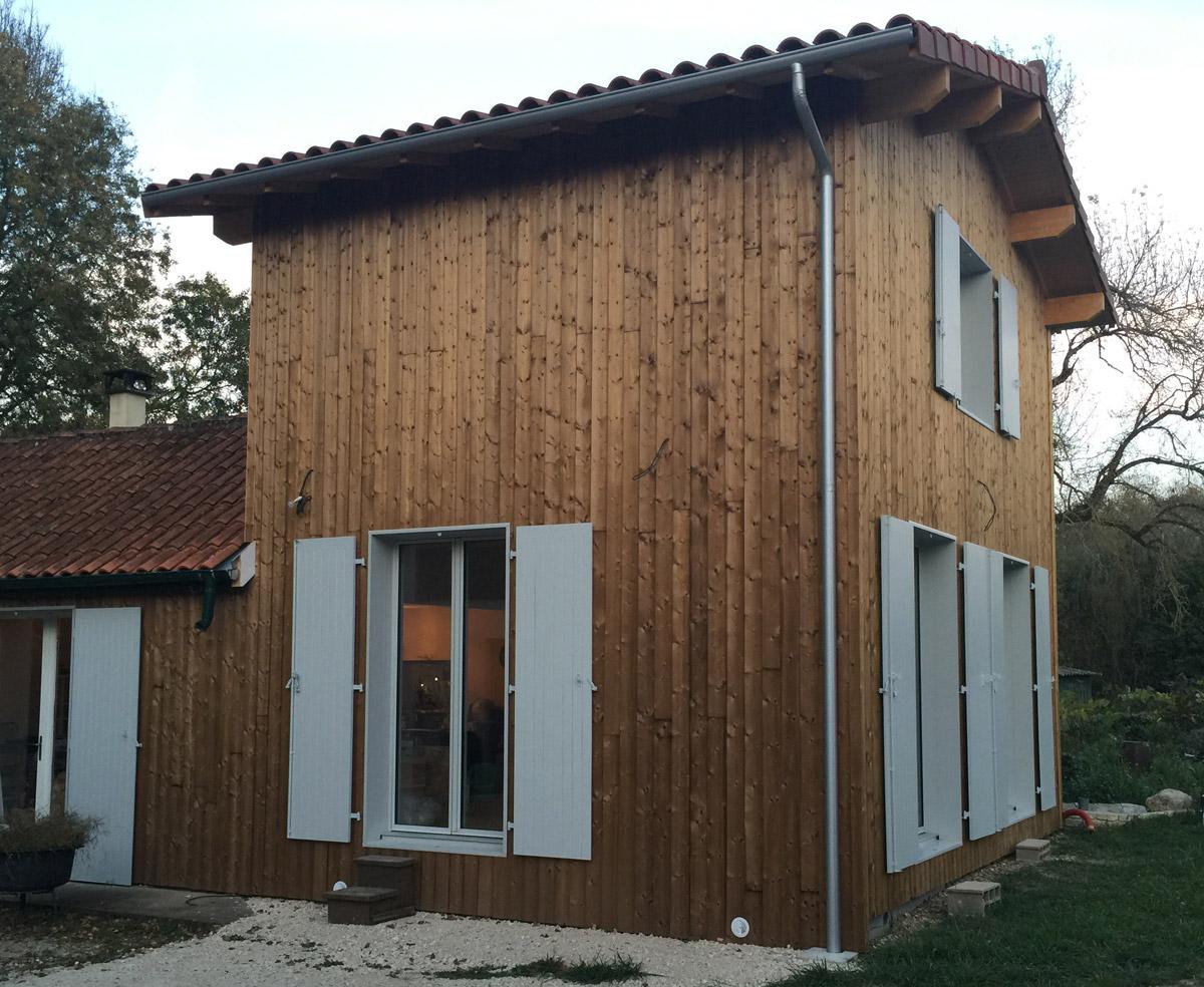 Extension bois d'une maison - Roullet - Charente - Après