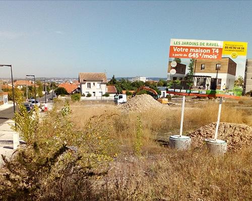 Les Jardins de Ravel - Début du chantier à Soyaux