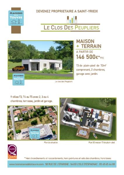 Construction logement - Le Clos Peupliers - Saint Yrieix